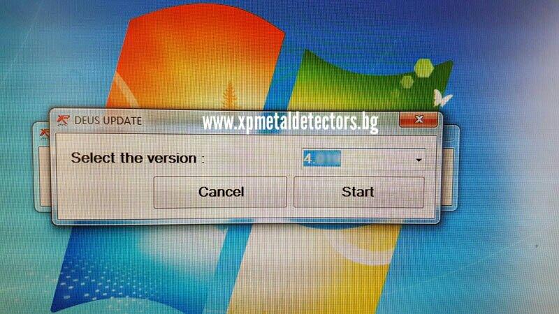 Инсталиране на софтуер 4 за металотърсач XP Deus